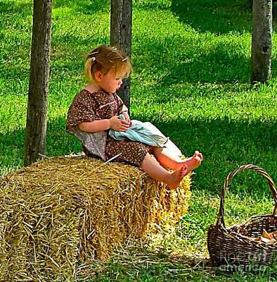 Farm Scenes Photograph - The Calico Princess by Julie Dant