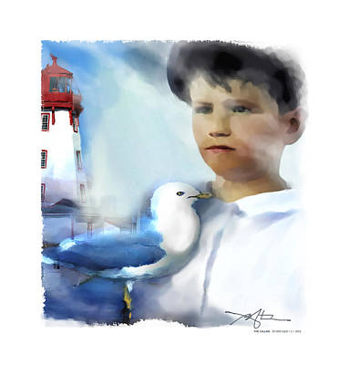 Youth Digital Art - The Calling - Out To Sea by Bob Salo