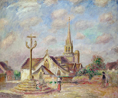 The Calvary At Pont Aven Print by Pierre Auguste Renoir