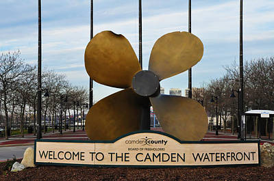 The Camden Waterfront Art Print by Bill Cannon