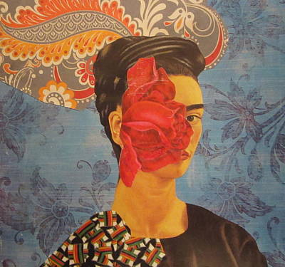 Kahlo Mixed Media - The Cancerous Rose by Kanchan Mahon