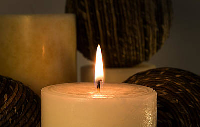 Photograph - The Candle by Milena Ilieva