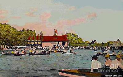 Painting - The Canoe Club In Portage Park In Akron Oh Around 1910 by Dwight Goss