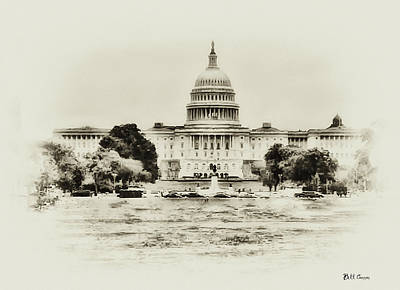 The Capital Bulding Art Print by Bill Cannon