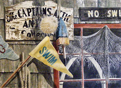 Painting - The Captains Attic Sold by Sandy Brindle