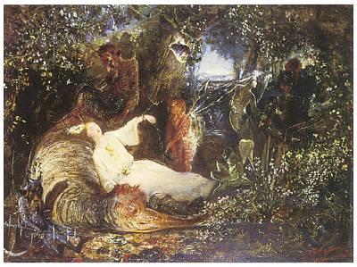 Fantasy Tree Art Painting - The Captive Dreamer by John Anster Fitzgerald