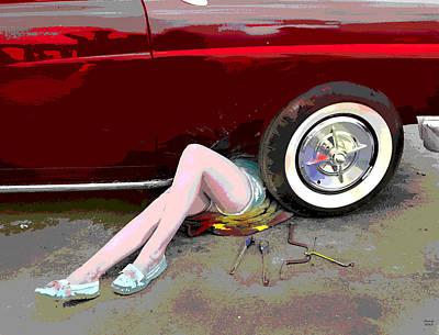 The Car Mechanic  Art Print