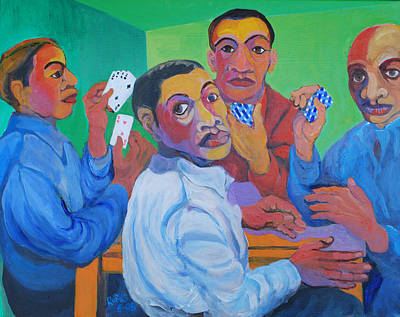 Painting - The Card Players by Rufus Norman