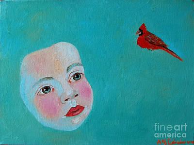 The Cardinal's Song Print by Ana Maria Edulescu