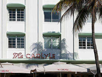 The Carlyle Hotel 2. Miami. Fl. Usa Art Print