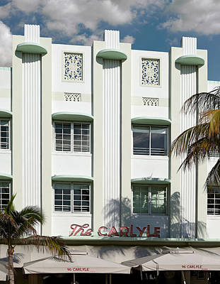 Photograph - The Carlyle Hotel. Miami. Fl. Usa by Juan Carlos Ferro Duque