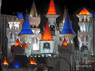 Castle Digital Art - The Castle by Rod Seeley
