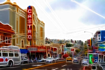 Castro District Digital Art - The Castro In San Francisco Electrified by Wingsdomain Art and Photography