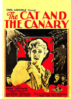The Cat And The Canary, Center Laura La Art Print by Everett