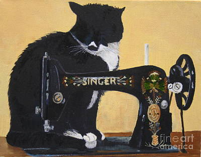 Painting - The Cat And The Singer by Phil Davis