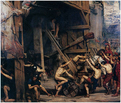 Poynter Painting - The Catapult by Edward Poynter