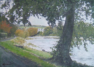 Painting - The Cauld Peebles by Richard James Digance