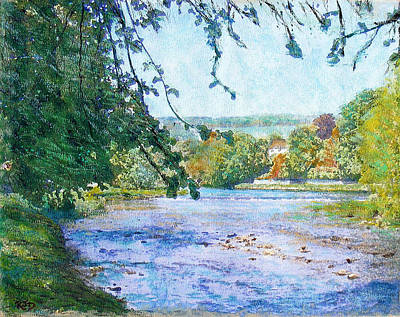 Painting - The Cauld Water Peebles by Richard James Digance