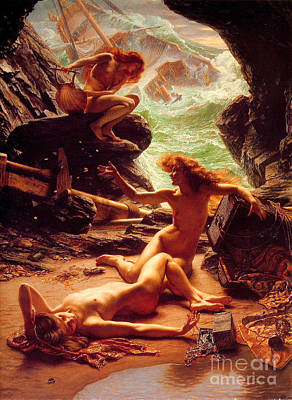 Poynter Painting - The Cave Of The Ninphs by Pg Reproductions