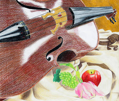 The Cello Print by Kayla Nicole