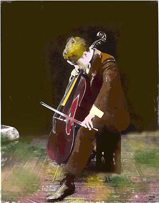 The Cello Player Art Print