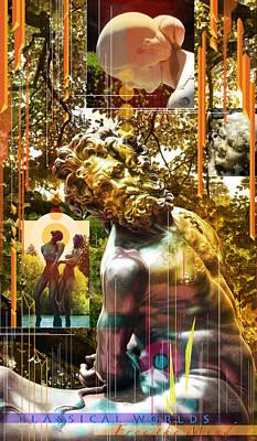 Centaur Wall Art - Mixed Media - The Centaur Classical Worlds by Garth Glazier