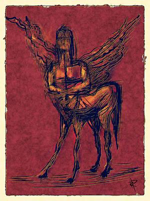Centaur Mixed Media - The Centaur by Russell Pierce