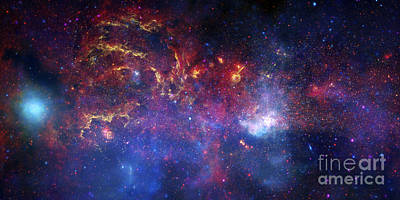 The Central Region Of The Milky Way Art Print by Stocktrek Images