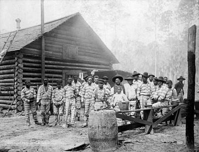 The Chain Gang, Southern Us, Ca. 1898 Art Print by Everett