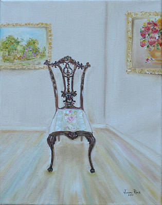 The Chair Art Print by Judith Rhue