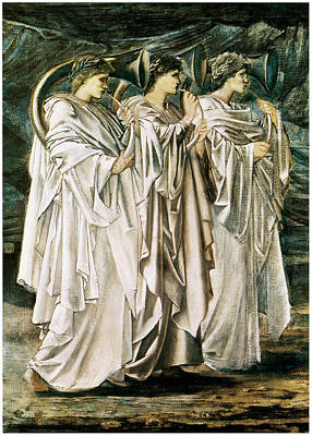Trumpet Painting - The Challenge In The Desert by Edward Burne-Jones