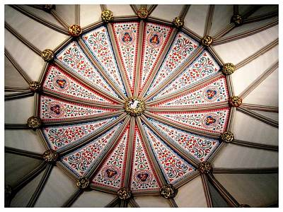 Photograph - The Chapter House Ceiling by Keith Bassalino