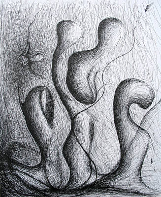 Drawing - The Chase by Michael Morgan