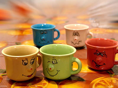 Photograph - The Cheerful Cups by Alessandro Della Pietra