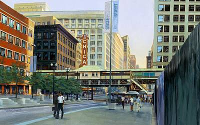 Chicago Painting - The Chicago Theater by Rick Clubb