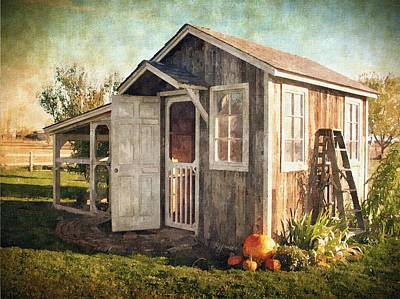 Shed Digital Art - The Chicken's House by Kelley Gruver