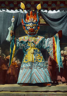 The Chief Dancer Impersonates King Art Print