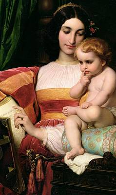 Humanist Painting - The Childhood Of Pico Della Mirandola by Hippolyte Delaroche