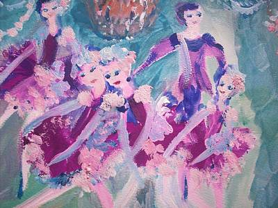 The Chocolate Chandelier Ballet Company Art Print by Judith Desrosiers
