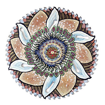 Painting - The Chris-can-themum Wall Clock by Jessica Sornson