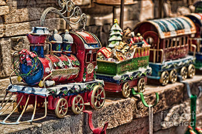 Photograph - The Christmas Express by Eddie Yerkish