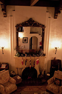 Photograph - The Christmas Hearth by Lorraine Devon Wilke