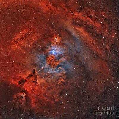The Christmas Tree Nebula, Cone Nebula Art Print by Rolf Geissinger