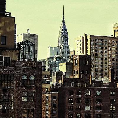 Skylines Photograph - The Chrysler Bldg. - Ny by Joel Lopez