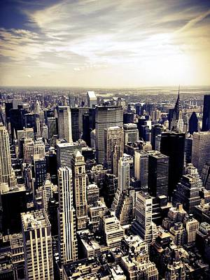 Skyline Wall Art - Photograph - The Chrysler Building And Skyscrapers Of New York City by Vivienne Gucwa