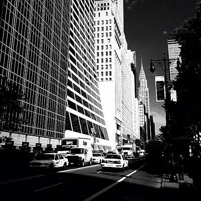 Cars Photograph - The Chrysler Building In New York City by Vivienne Gucwa