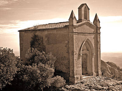 The Church At The Top Of The Mountain Art Print by Roberto Alamino