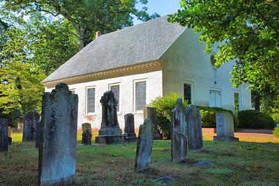 The Church Cemetery Print by Steven Ainsworth