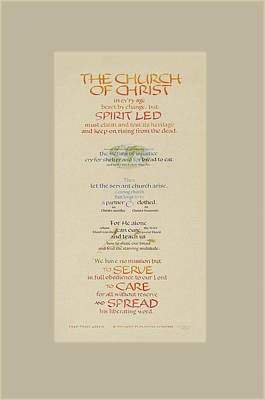 The Church Of Christ In Every Age II Art Print by Judy Dodds