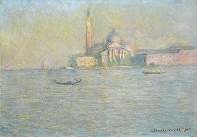 The Church Of San Giorgio Maggiore Venice Art Print by Claude Monet